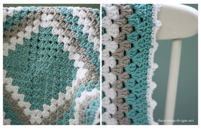 free crochet patterns {granny square baby blanket} unwtyul