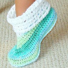 free crochet slipper patterns adult and kids cuffed boots pattern 12 | baby slippers, crochet and crochet xgmqrzf