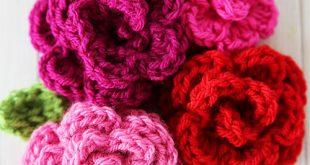 free easy crochet rose pattern ofpjwmq