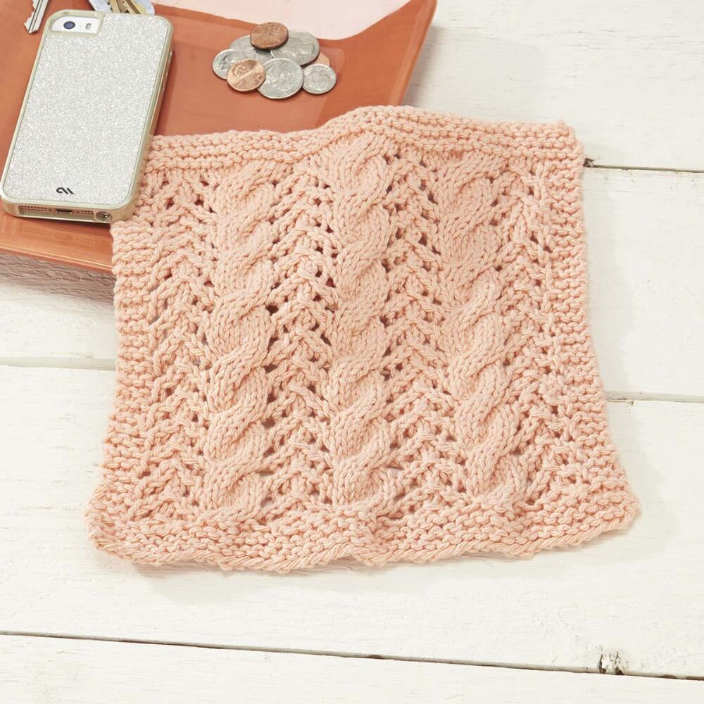 Free Knitting Patterns cables and lace dishcloth free knitting pattern qkoqmya