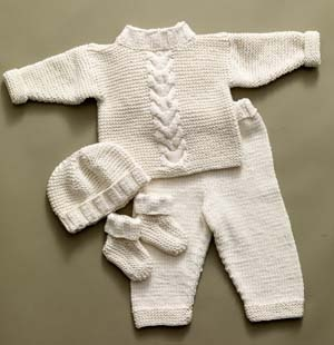 free knitting patterns for babies cabled baby set wvrysbn