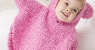 Free Knitting Patterns For Children free knitting pattern for playful hooded poncho udysvyi