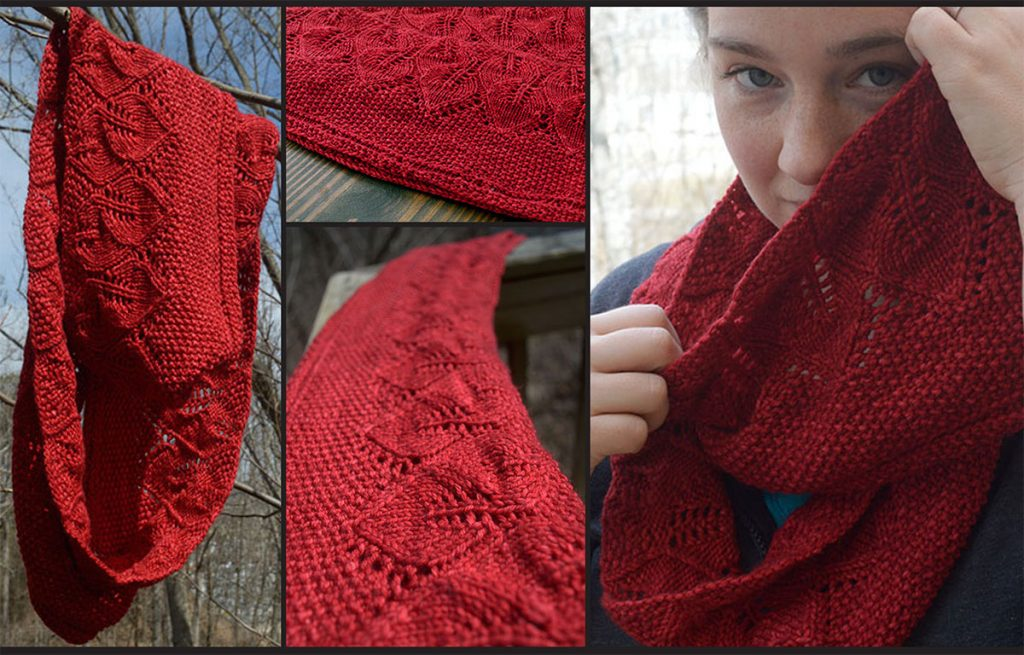 free knitting patterns for scarves hannah leaf pattern infinity scarf free knit ypkcwps