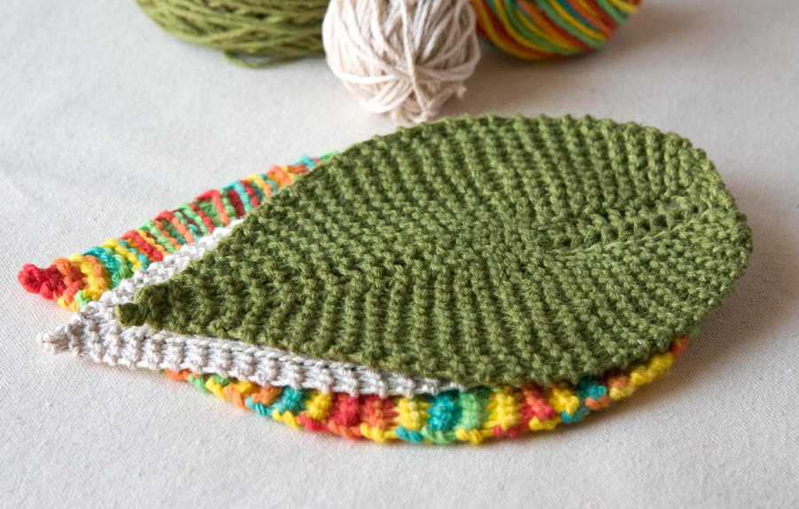 Free Knitting Patterns free knitting pattern: leafy washcloth uppllkm