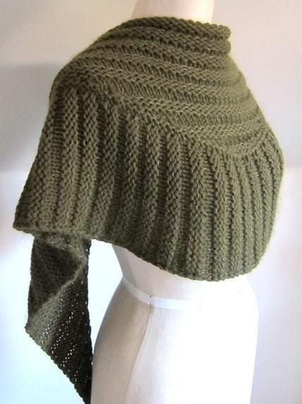 Free Knitting Patterns wombat textured shawl free knitting