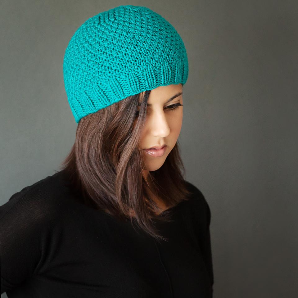 free modern knit beanie pattern - leelee knits kwmidja