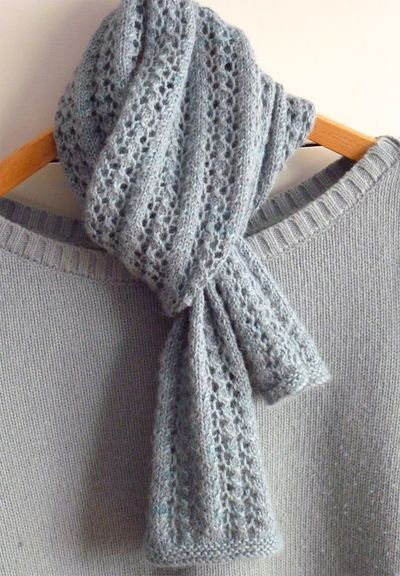 free scarf knitting patterns little leaf lace scarf
