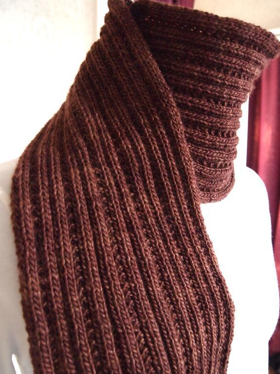 free scarf knitting patterns simply ribbed scarf free