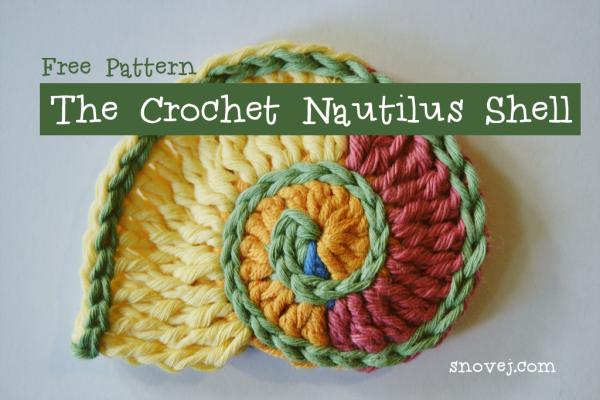 freeform crochet crochet nautilus shell onvyrol