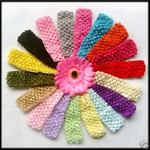 girls crochet headbands amazon.com: lot of 40 1.5 onjcmqa