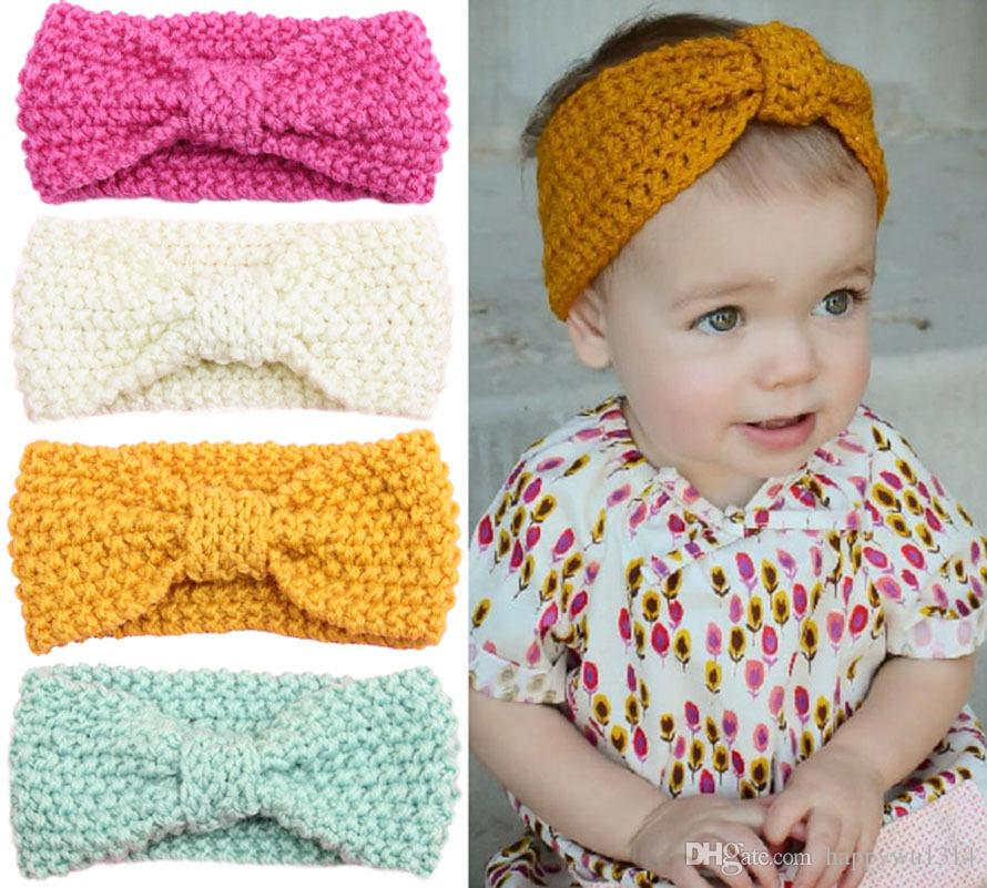 girls crochet headbands baby girls 14 inch wool crochet headband handmade knit hairbands childrenu0027s  hair yhzpkab
