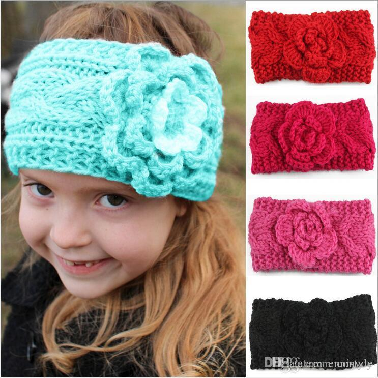 girls crochet headbands girls kids winter big wool crochet headbands flowers for baby european  style ndglvki