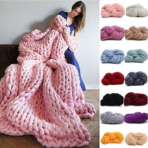 hand knitting image is loading 250g-super-thick-bulky-wool-yarn-chunky-hand- gsvbdmb