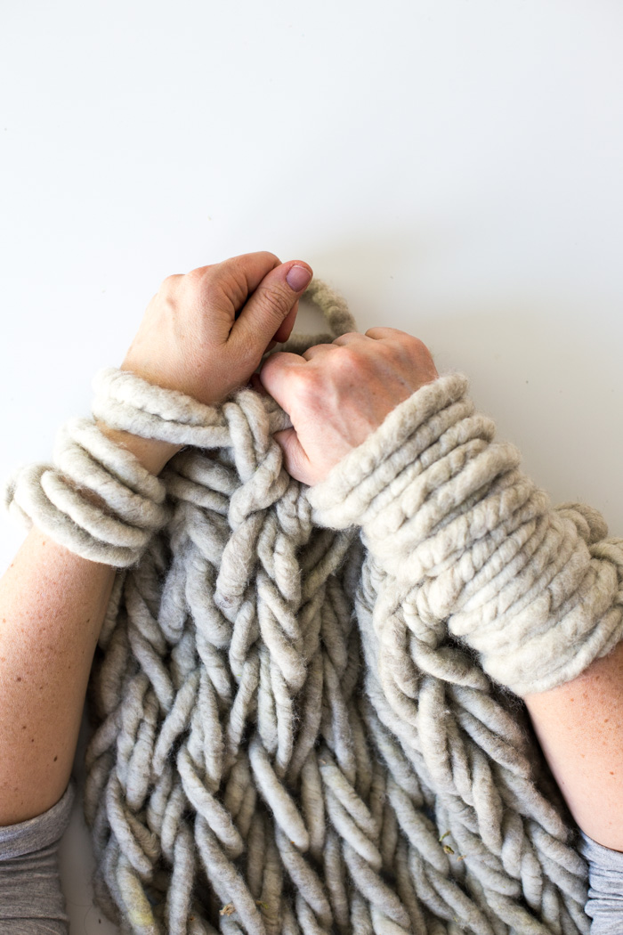 hand knitting six ways to make your arm knitting tighter - flax u0026 twine jddkfqo