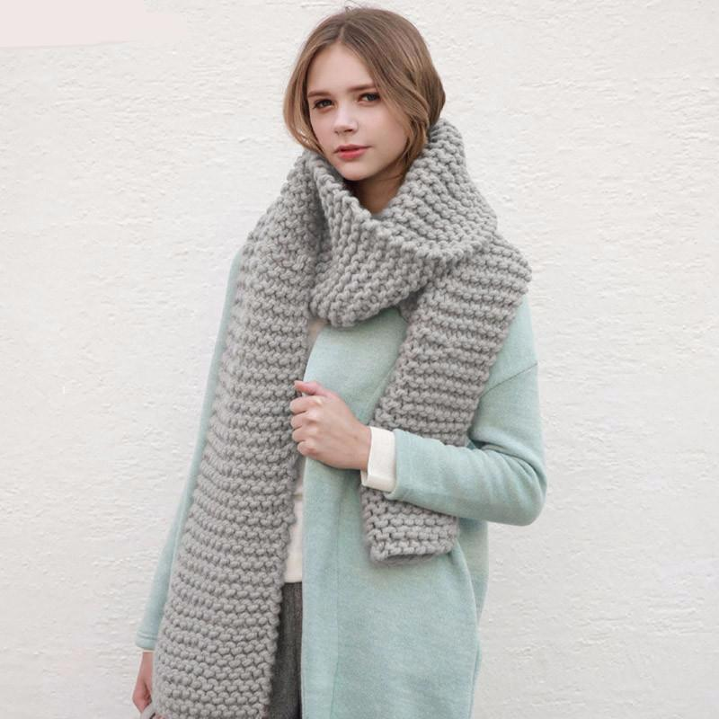 Chunky knit scarf – designer knit scarf