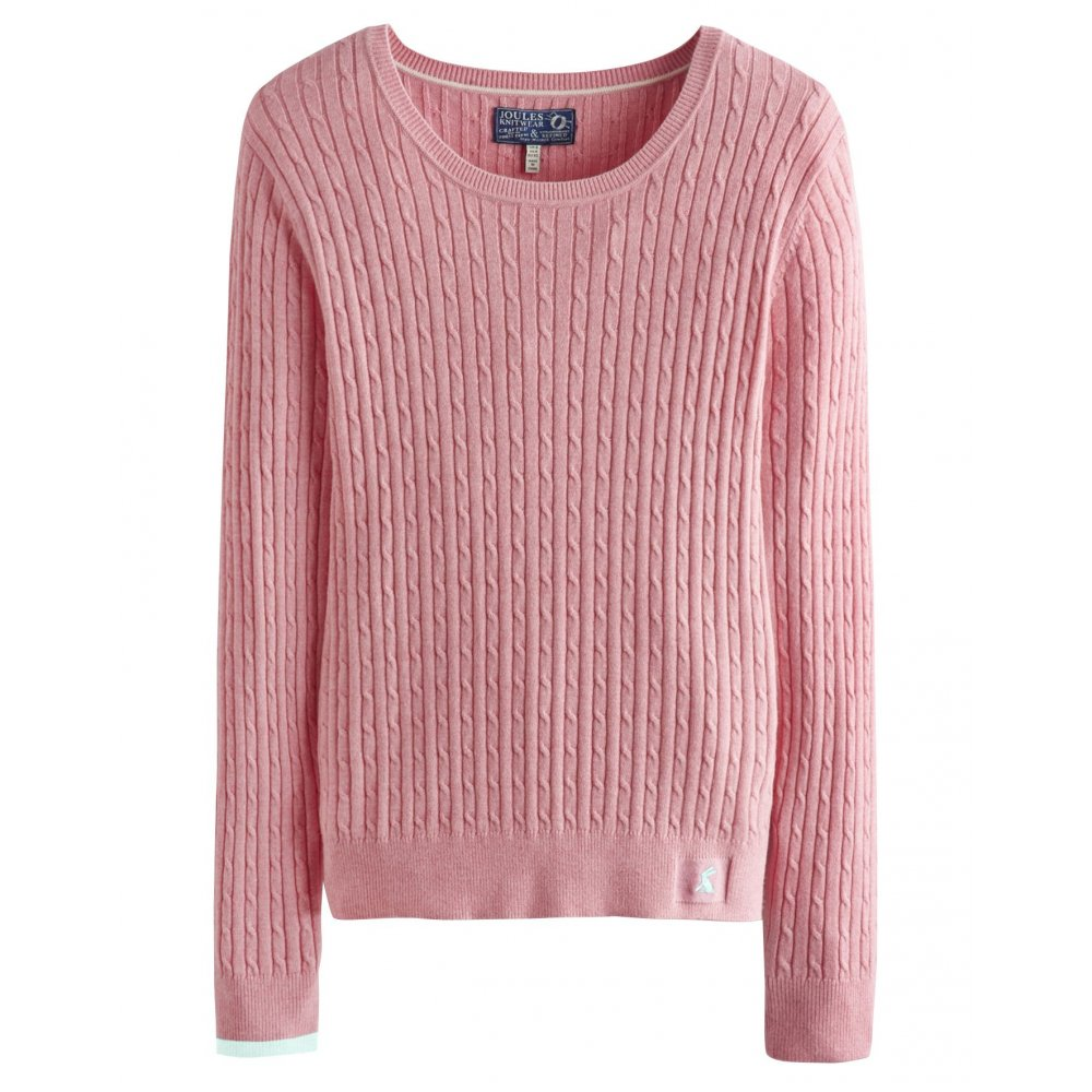 hayle ladies cable knit jumper (s) esdnotc