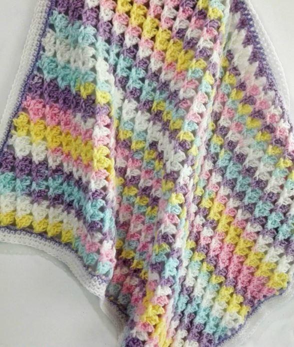 How To Crochet A Blanket pastel peaks crochet baby blanket xzbgfsq