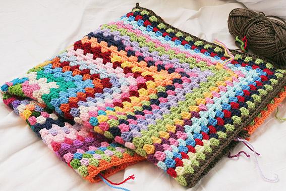How To Crochet A Blanket work in progress - scrappy crochet blanket mebdmyh