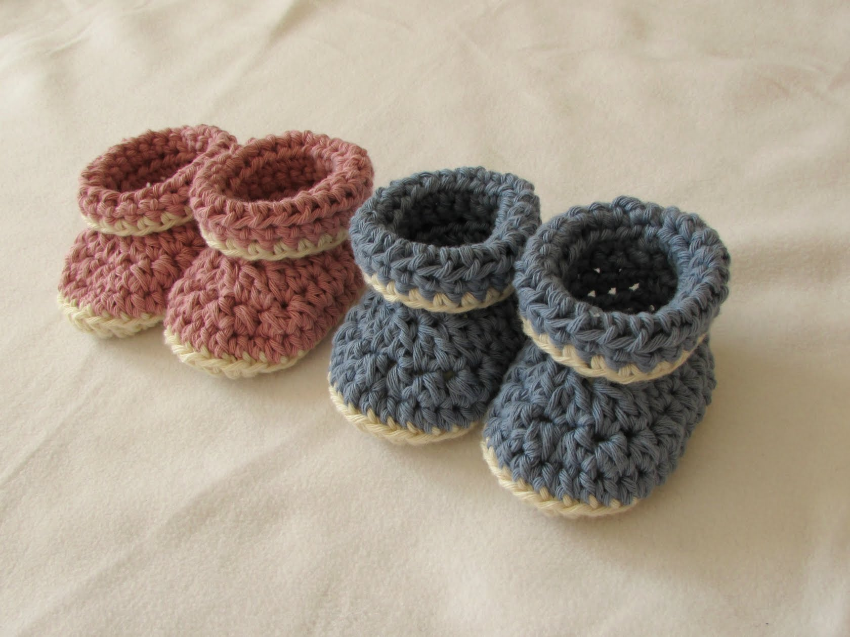 how to crochet baby booties very easy crochet cuffed baby booties tutorial - roll top baby shoes for palrpfs