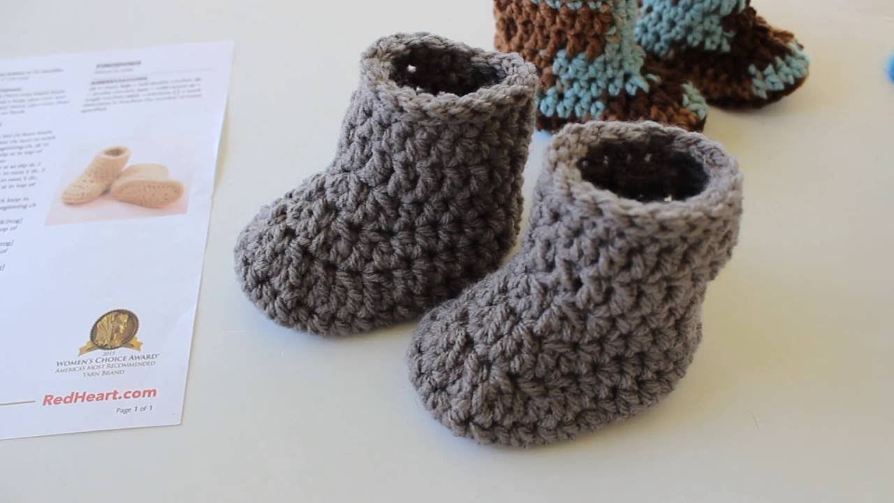 how to crochet baby booties warm crochet baby boots - youtube waukzua