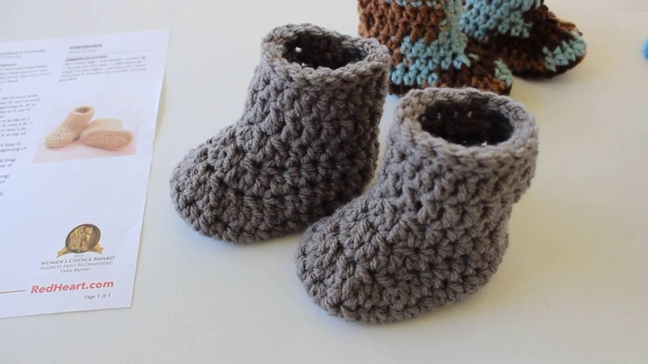 how to crochet baby booties warm crochet baby boots - youtube waukzua