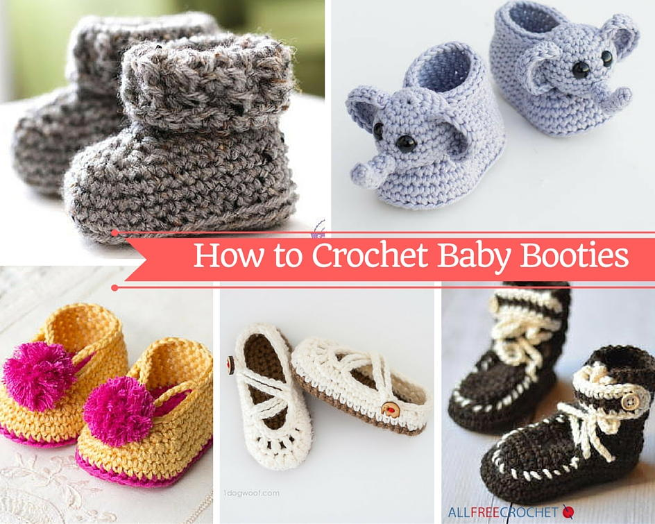 how to crochet baby booties with 51 patterns | allfreecrochet.com jbgxmdl