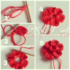 How To Crochet Easy crochet videos flowers noykmig