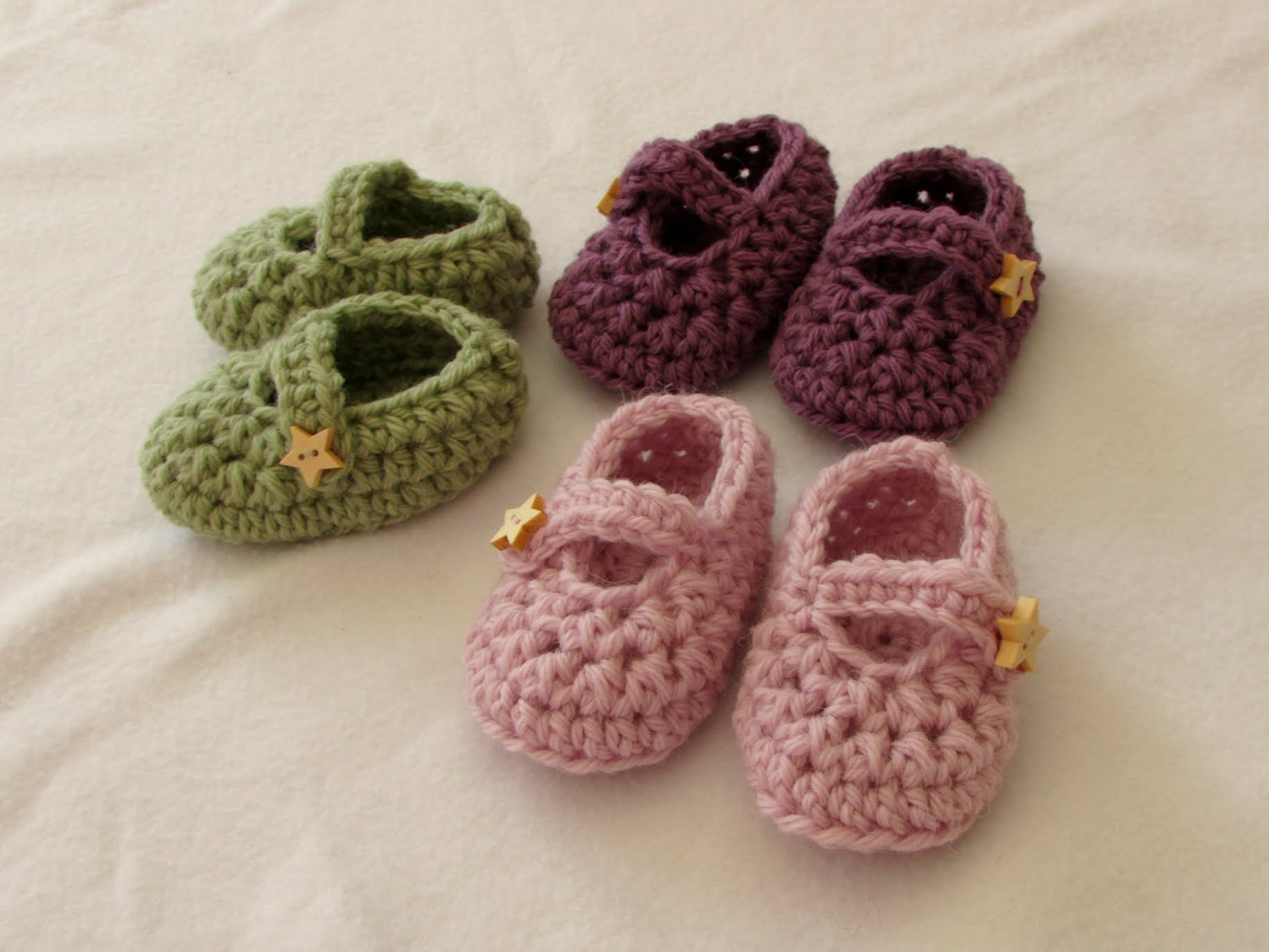 How To Crochet Easy how to crochet easy baby mary jane shoes - booties / slippers for fsxvszj