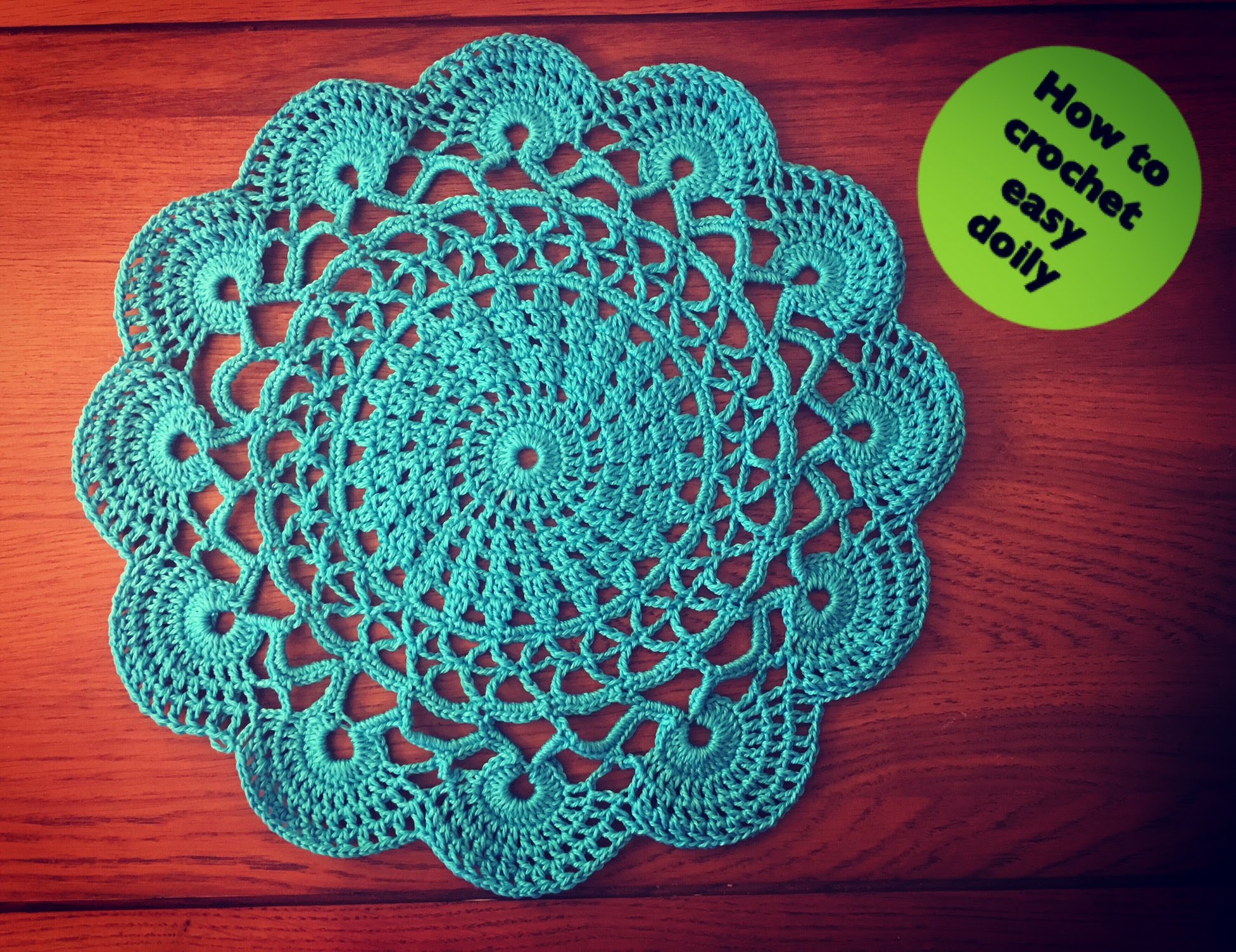 How To Crochet Easy how to crochet easy doily - youtube lggodle