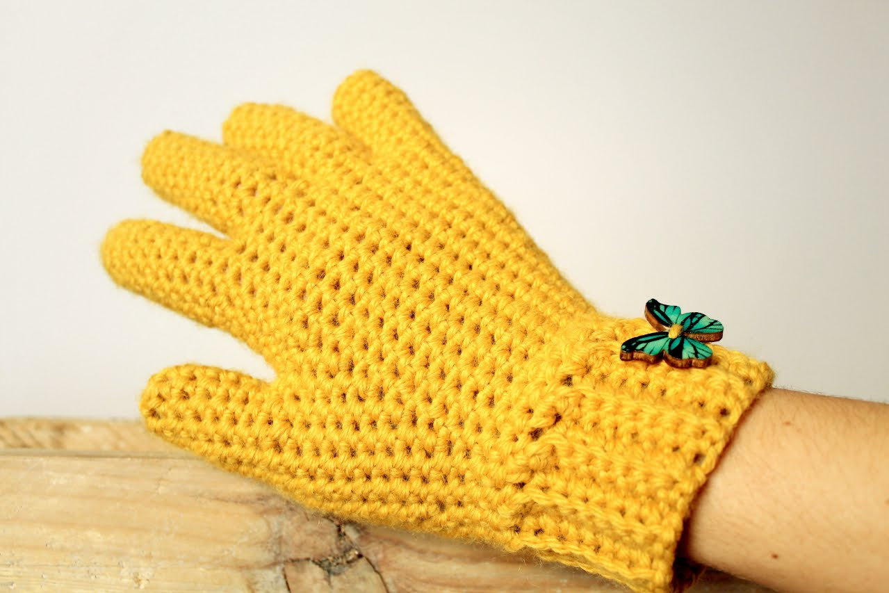 how to crochet gloves with fingers ♥ crochet lovers - youtube coptdki