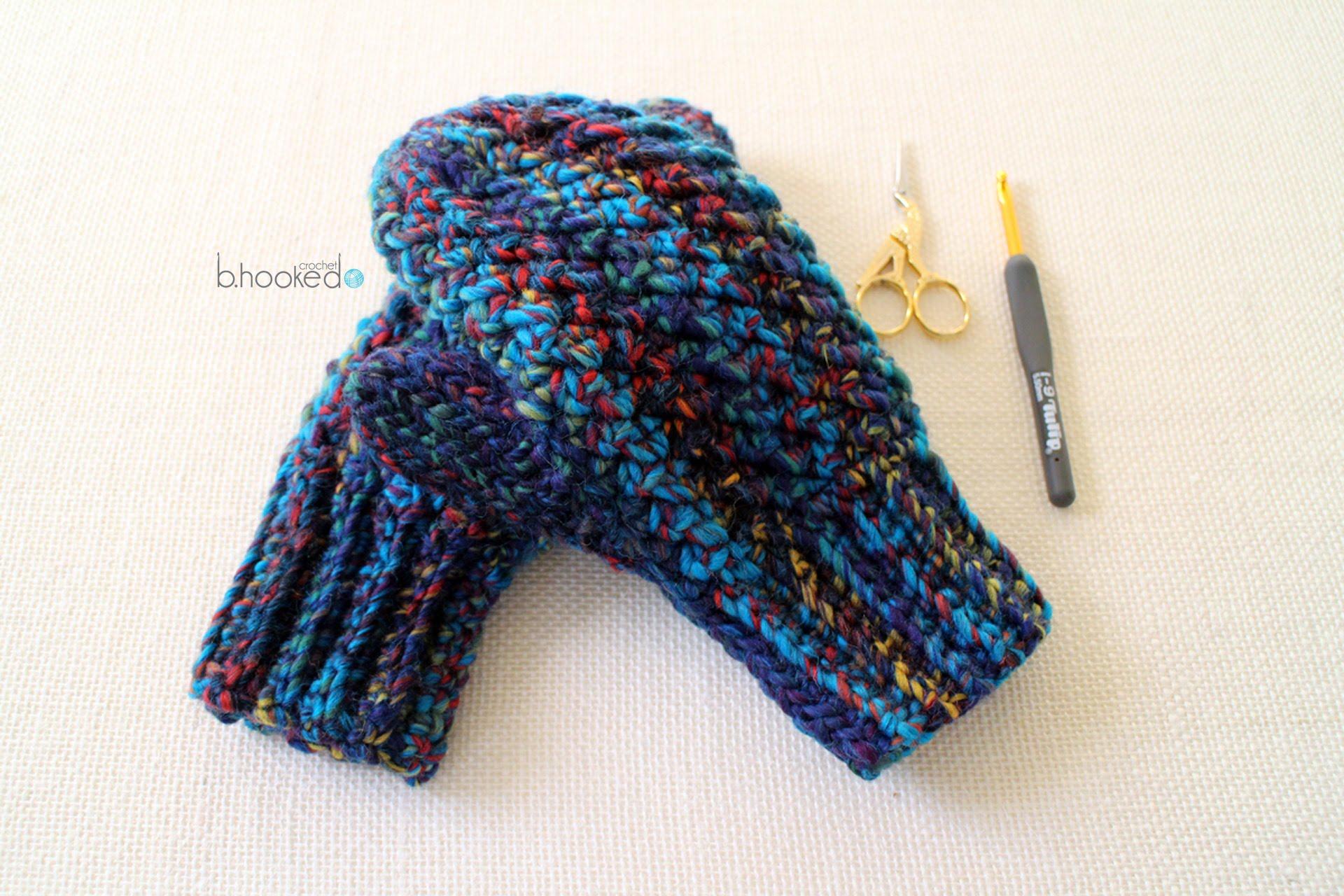 how to crochet mittens - youtube gnpgkeb
