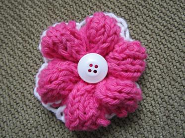 how to knit a flower project. simple knit flower wmrbaeq