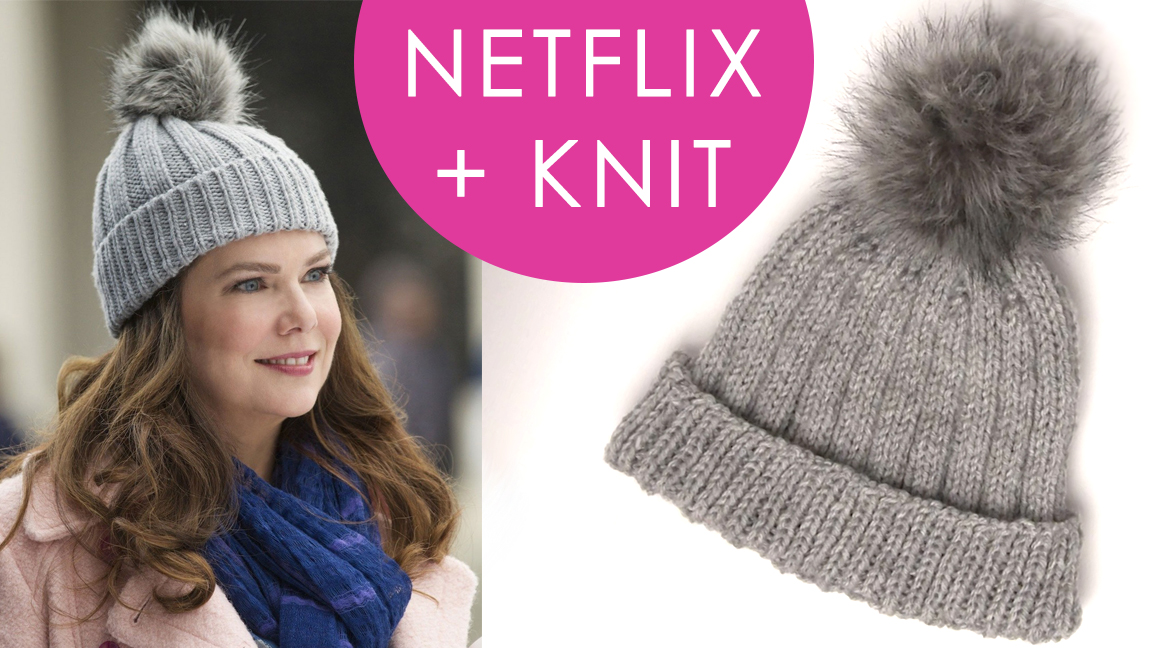 how to knit a hat inspired by gilmore girls | netflix and knit huaymse