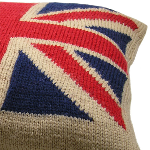 intarsia knitting intarsia knitted union jack flag throw pillow sehibua