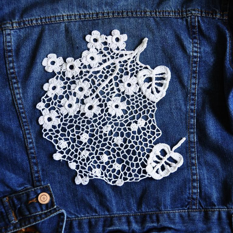 Irish Crochet cherry blossom branch lace crochet pattern zjeonbm