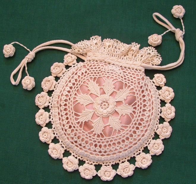 Irish Crochet irish crochet coin purse yenrvar