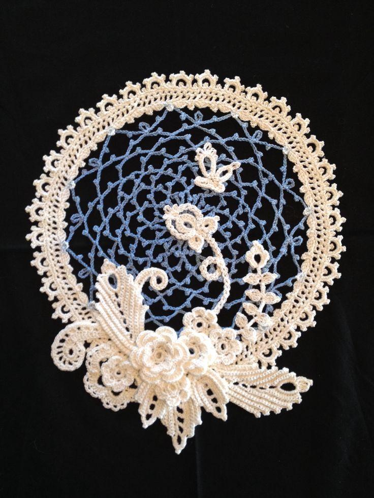 Irish Crochet irish crochet sampler doily gqrgdct