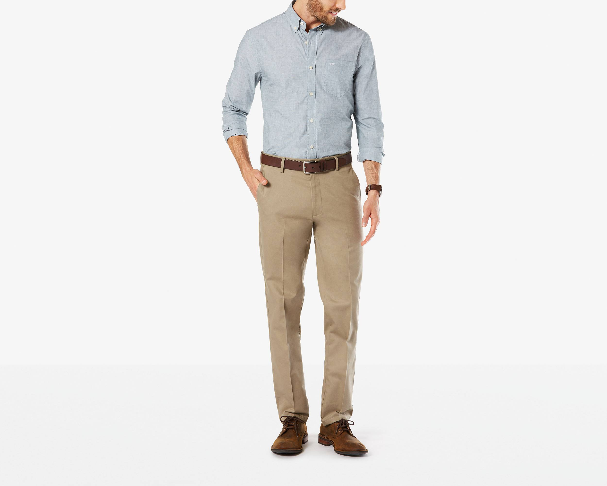 Khaki pants signature stretch khaki, slim fit | khaki | dockers® united states (us) hfvspyw
