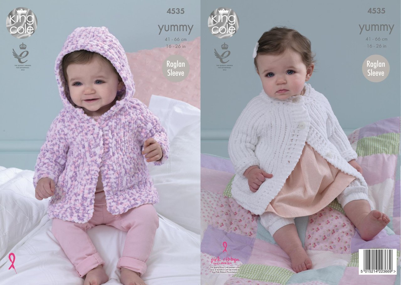king cole knitting patterns king cole 4535 knitting pattern baby jackets to knit in king cole yummy lsqjrxz