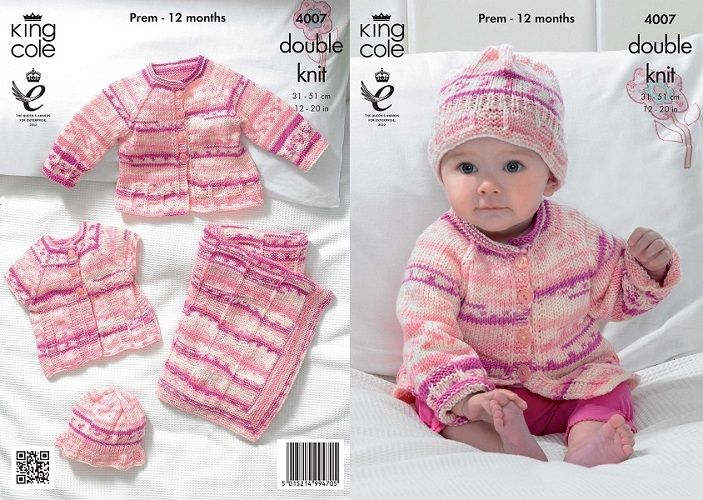king cole knitting patterns king cole cherish dk blanket jacket cardigan hat knitting pattern 4007 ddvfsux