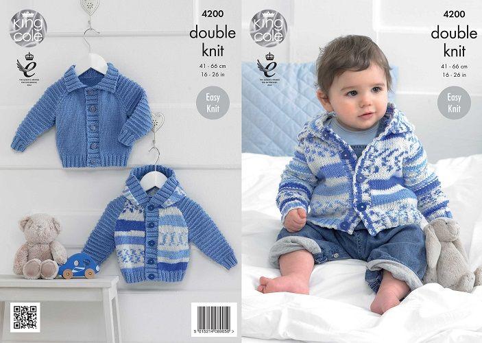 king cole knitting patterns king cole cherished dk baby boys cardigans knitting pattern 4200 sfjglep