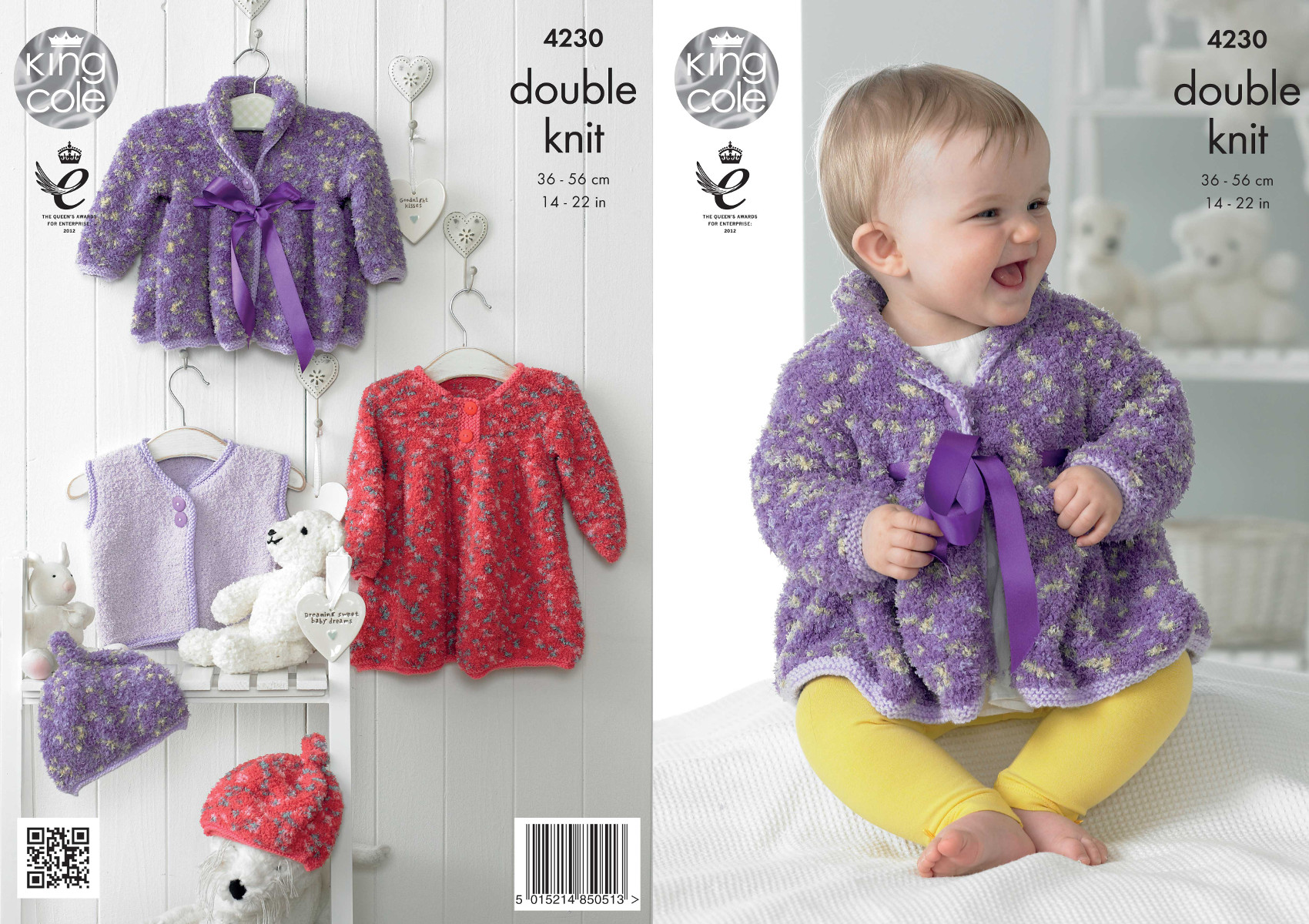 king cole knitting patterns king cole cuddles dk double knitting pattern baby dress coat waistcoat hat wxgazzv