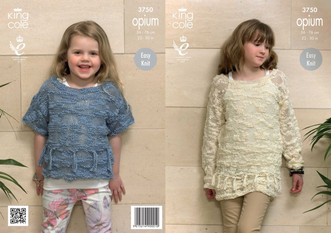 king cole knitting patterns king cole opium girls sweaters knitting pattern 3750 sldwonj