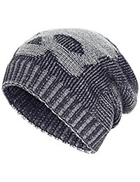 knit beanie winter slouchy beanie hats unisex skull knit wool ski cap hat 4 colors glakkwl
