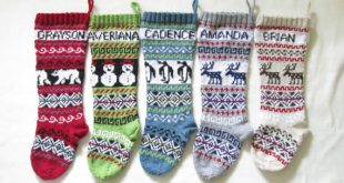 Knit Christmas Stockings personalized knitted christmas stockings set of 5 - hand knitted stockings  fair zsgfryd