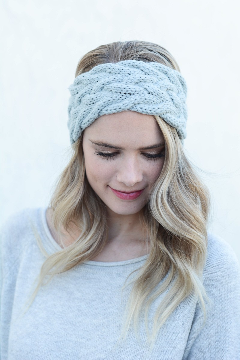 knit headband ... cute winter headband braided cable knit headwrap wholesale leto  accessory light lyzisni