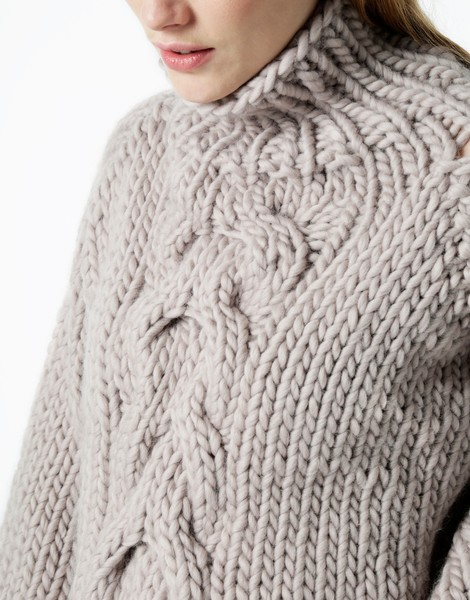 knit sweater ... 07 cropped cable ... odqkqpe