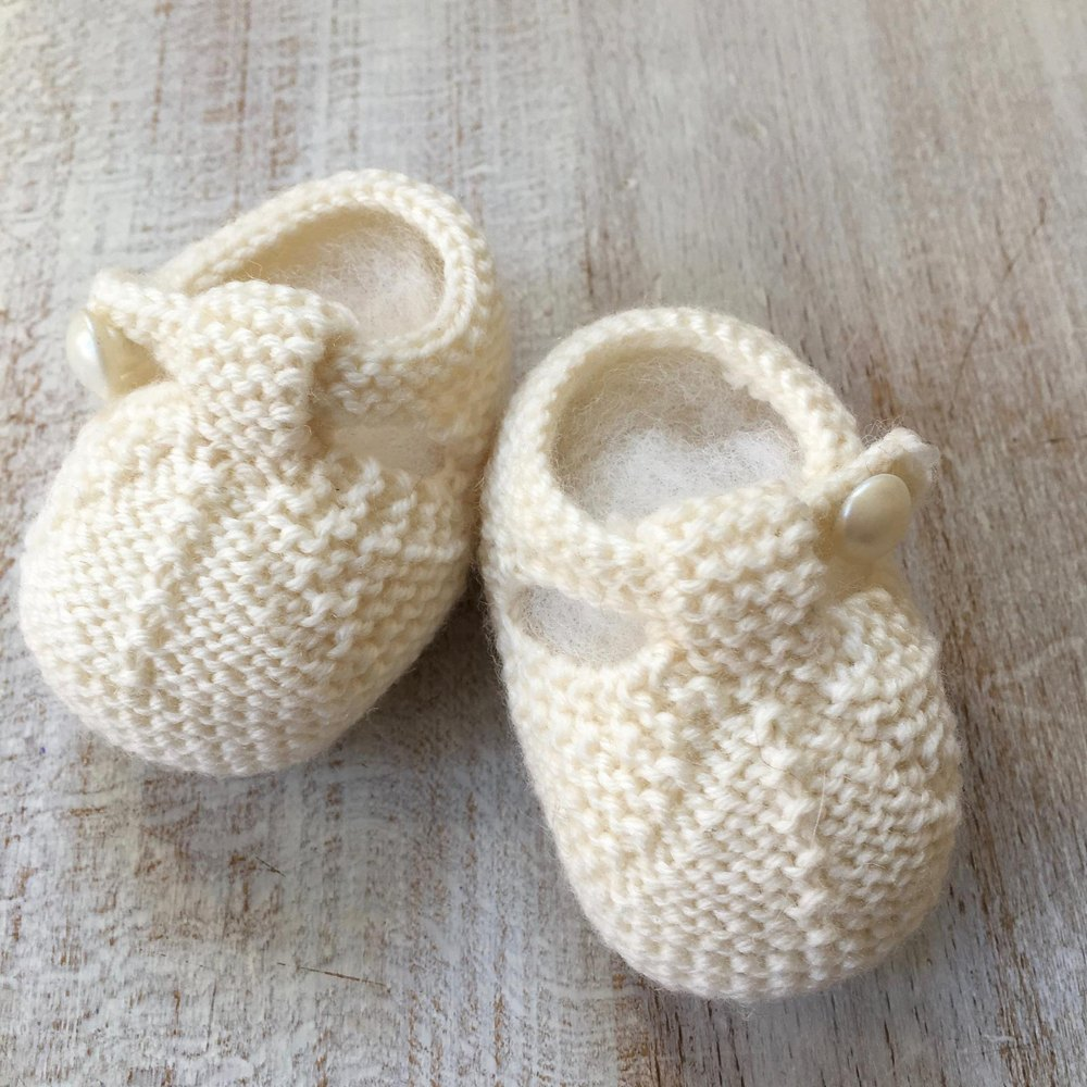 knitted baby booties 40 / baby booties knitting pattern by florence merlin jyjvcrm