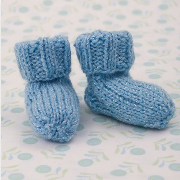 knitted baby booties shimmery simple knit baby booties | allfreeknitting.com cpxbtoz