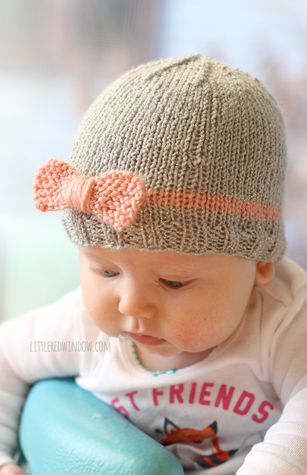 knitted baby hats littleredwindow.com bow baby hat knitting pattern! | littleredwindow.com | zftiymc